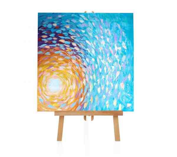 """Acryl Gemälde """"Sun"""""""