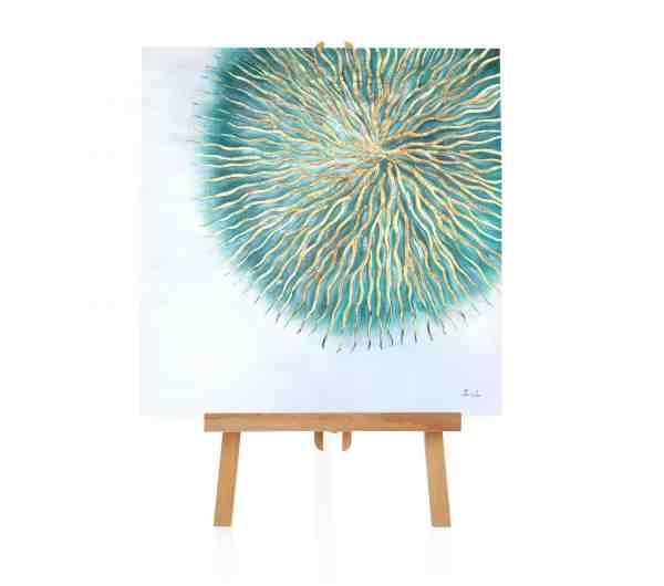 "Acryl Gemälde ""Plasma Sonne"""
