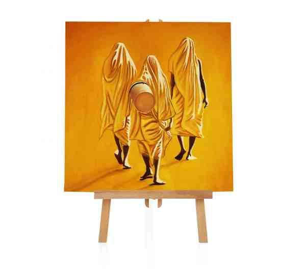 Mönche Wasserholen Gemälde