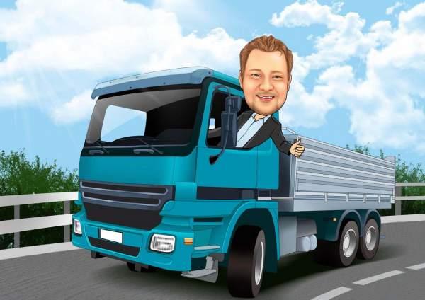 Der Lastwagenfahrer