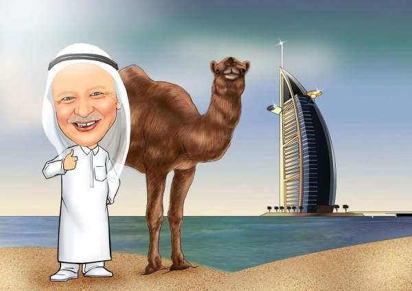 Scheich in Dubai
