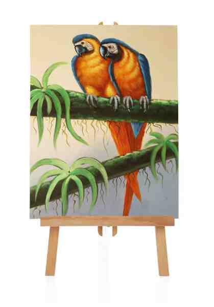 Ölbild von Papagei