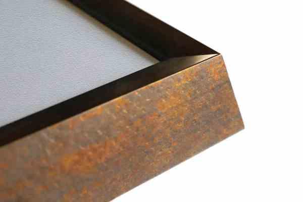 moderner Bilderrahmen Echtholz bronze
