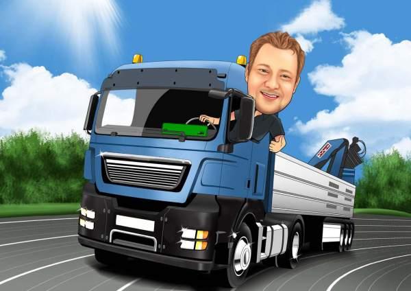 Der Lkw Fahrer