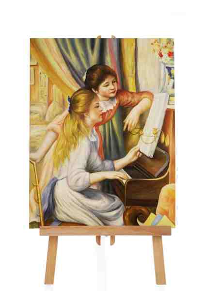 Girls at the piano von Renoir
