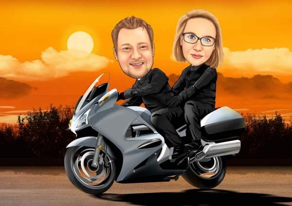 Motorrad Sonnenuntergang
