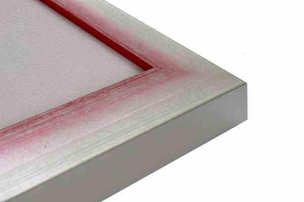 Holzbilderrahmen Alu Rot