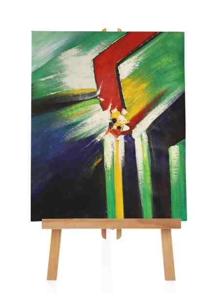 "Ölbild ""Abstrakter Bruch"" 50x65 cm"