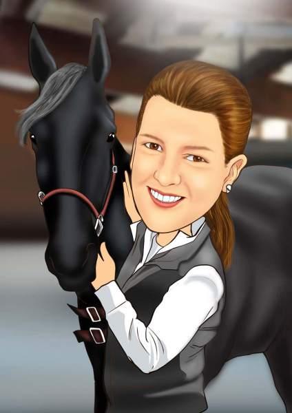 Pferdeliebhaberin