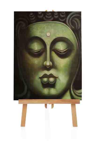 "Ölbild ""ruhiger Buddha"""