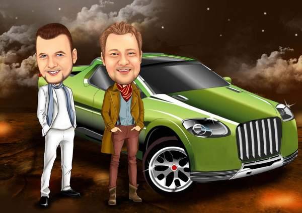 Männer und Autos