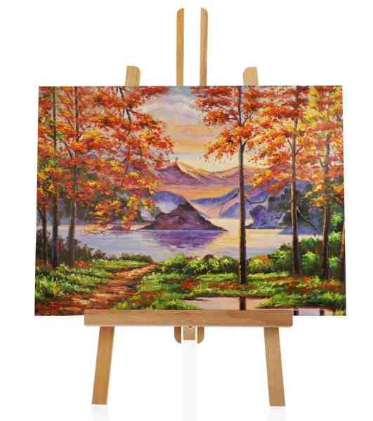 """Ölbild """"Herbst am See"""""""
