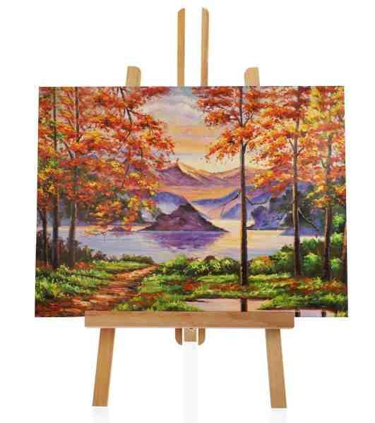 "Ölbild ""Herbst am See"" 115x85 cm"