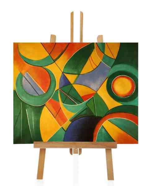 grünes abstrakte Ölgemälde