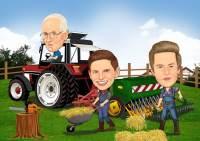 Arbeit auf dem Bauernhof