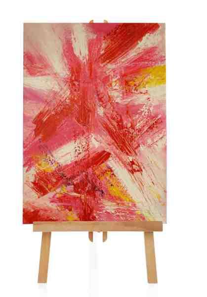 pinkes Acrylgemälde