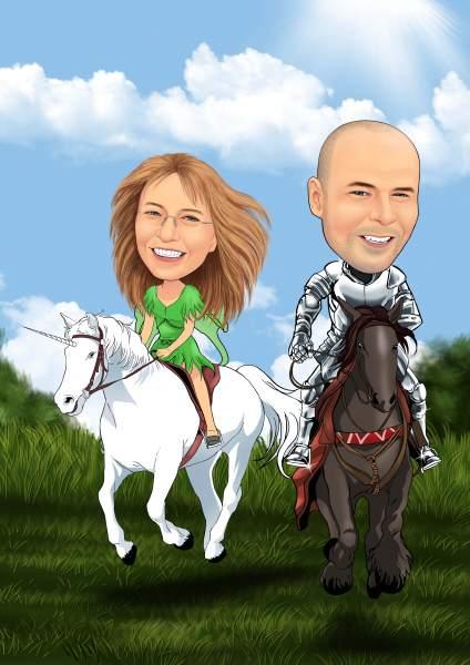 Reiter mit seinem Gaul