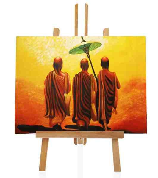 """Ölbild """"Mönche auf dem Weg"""" 120x100 cm"""