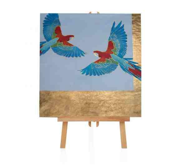 """Acryl Gemälde """"Die Papageien"""""""
