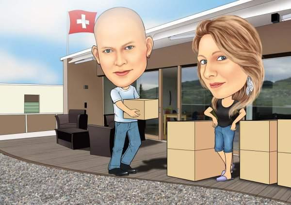 Umzug in die Schweiz