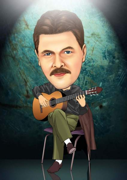 Der Mann und seine Gitarre
