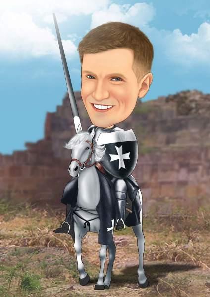 Ritter bereit für den Kampf