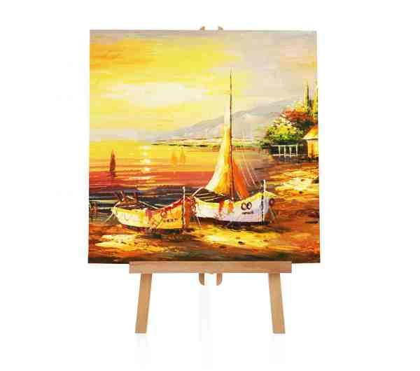See und Hafen Schiff Ölbild