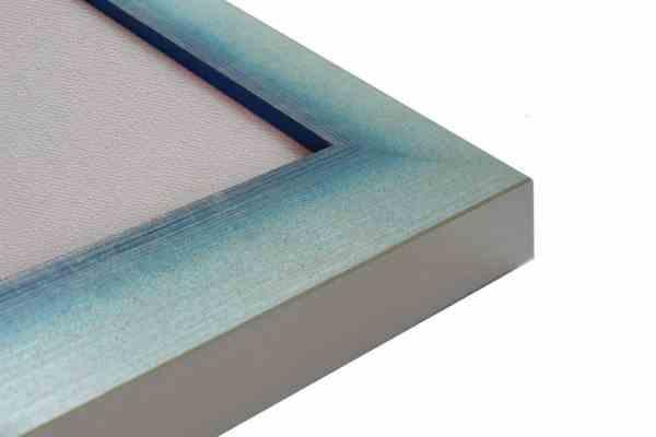 Holzbilderrahmen Alu Blau
