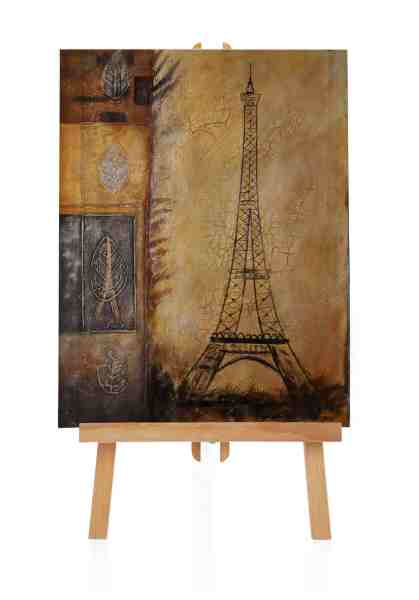 Ölbild vom Eiffelturm Paris