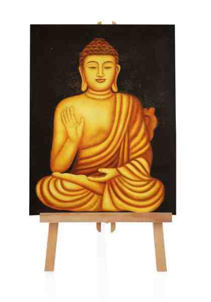 """Ölbild """"Hello Buddha"""""""