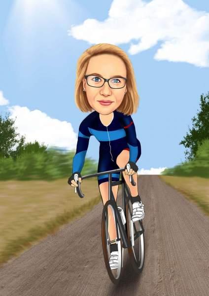 Leidenschaftliche Fahrradtour