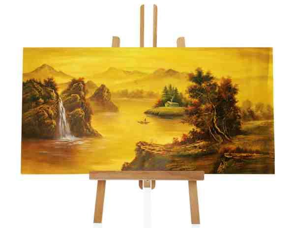 goldene Landschaft handgemalt