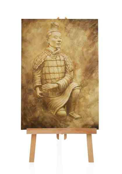 japanischer Samurai Ölbild