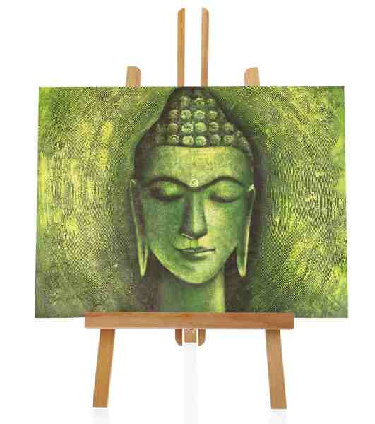 Buddha in Grün Ölbild