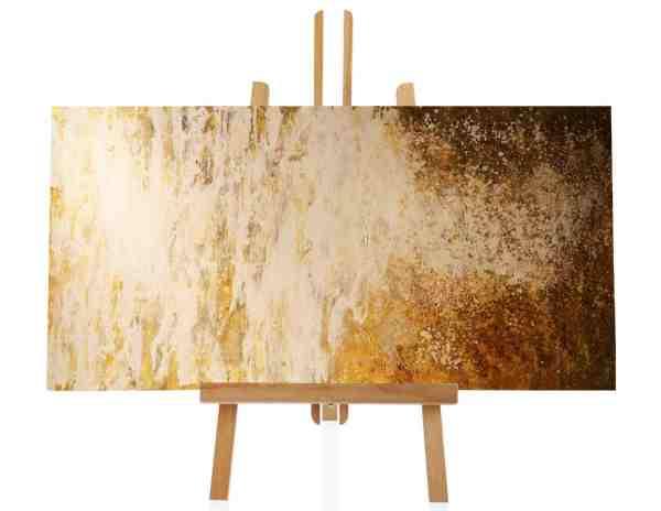 goldenes abstraktes Ölbild