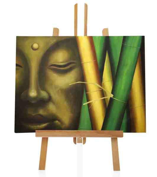 """Ölbild """"Buddha mit Bambus"""""""