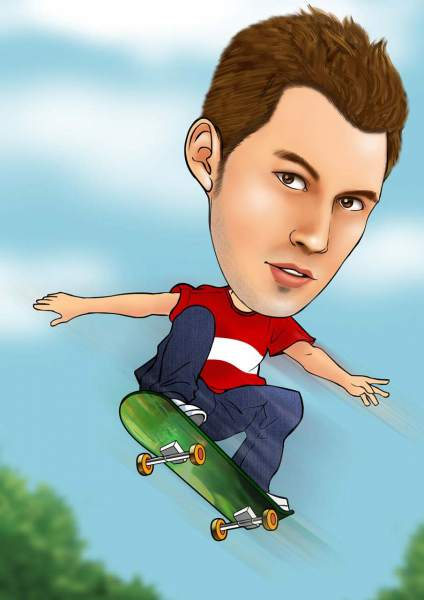 Cooler Skateboarder
