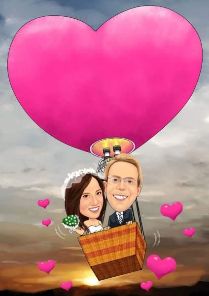 Liebes Heißluftballon