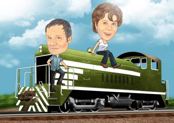 Grüne Lokomotive