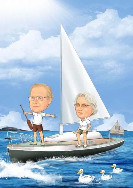Um die Welt segeln