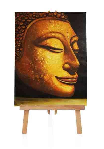 """Ölbild """"Buddhakopf"""""""
