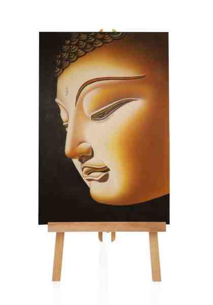 Buddha Gemälde mit Gold