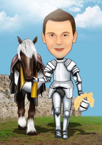 Der Ritter und sein Pferd