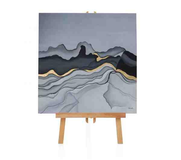 """Acryl Gemälde """"Liquid Mountain"""""""