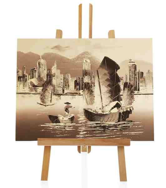 Hafenstadt Ölbild