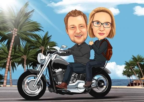 Ausflug auf dem Motorrad