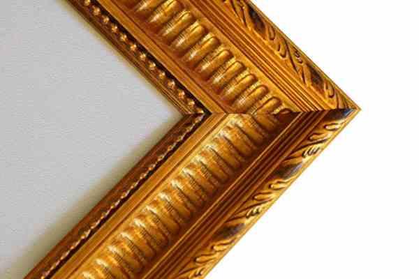 großer Antiker Bilderrahmen gold