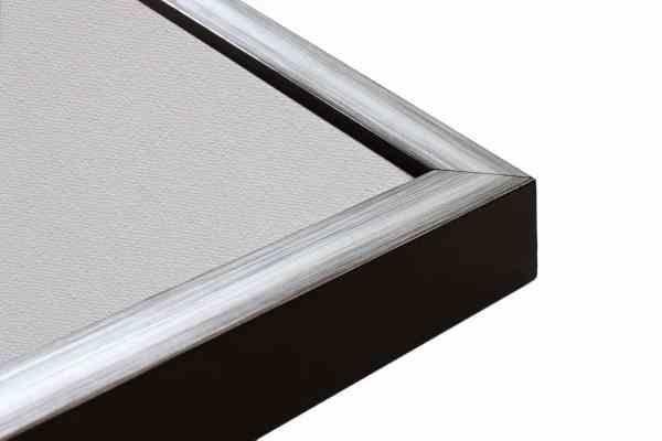 Silber auf Schwarz Rahmen