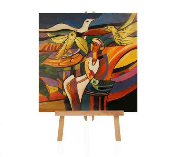 afrikanisches Gemälde auf Staffelei