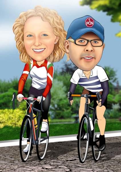 Fahrradtour zu zweit